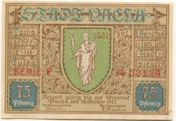 Vacha - Stadt - 18.10.1921 - 75 Pfennig